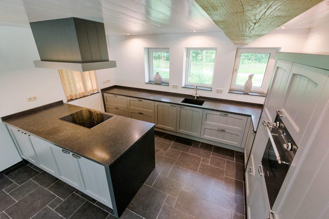 Nostalgische Keuken Blauw Grijs