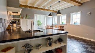 Nostalgische Keuken Zwart-Wit